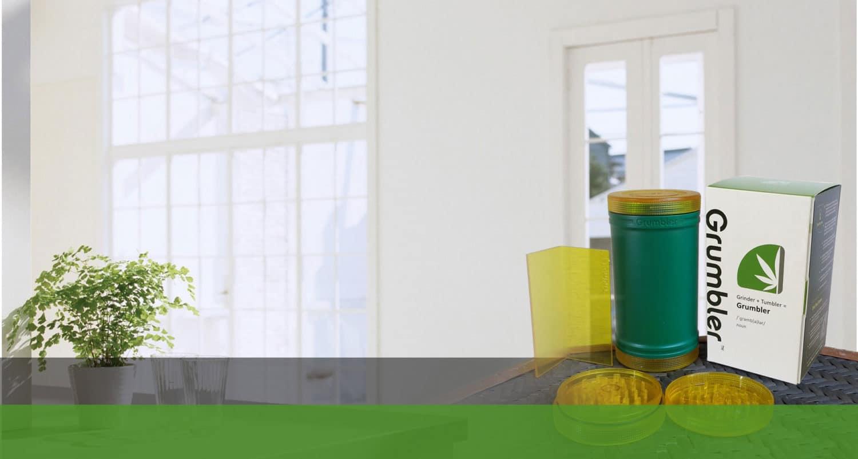 grumbler herb weed marijuana grinder storage combo container